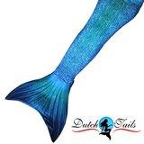 Dutch Tails zeemeermin staart schubben blauw