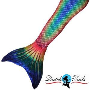 Dutch Tails zeemeerminpak schubben regenboog